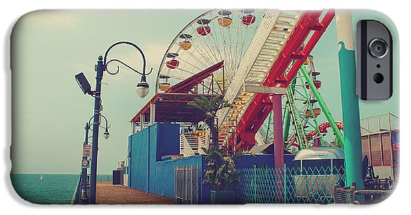 Amusements iPhone Cases - Ride it Out iPhone Case by Laurie Search