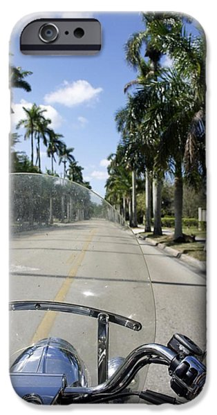 Asphalt iPhone Cases - Ride to Sanibel iPhone Case by Laurie Perry