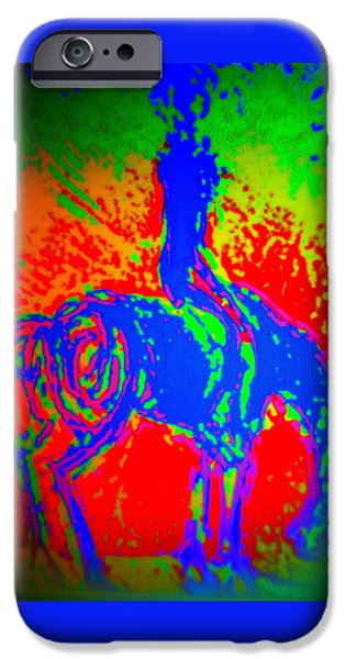 Recently Sold -  - Component Paintings iPhone Cases - Rider B  iPhone Case by Hilde Widerberg