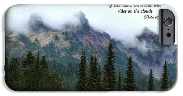 Rainy Day iPhone Cases - Rides on the clouds iPhone Case by Lynn Hopwood