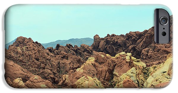 Red Rock Tapestries - Textiles iPhone Cases - Ridge Colours iPhone Case by Edna Weber