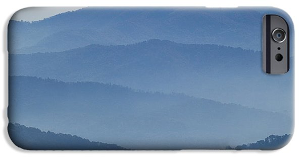 Smokey Mountains iPhone Cases - Ridgelines Great Smoky Mountains iPhone Case by Rich Franco