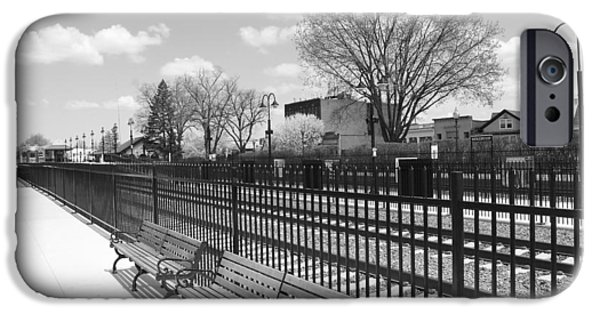 Ridgewood iPhone Cases - Ridgewood NJ Train Station iPhone Case by Barry Glick