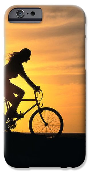 Riding At Sunset iPhone Case by Dave Fleetham - Printscapes