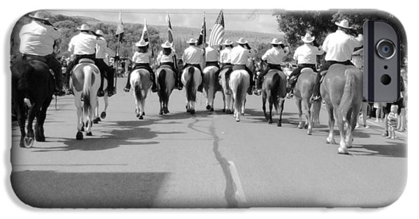 Police iPhone Cases - Riding High in Texas iPhone Case by Ken Kelley