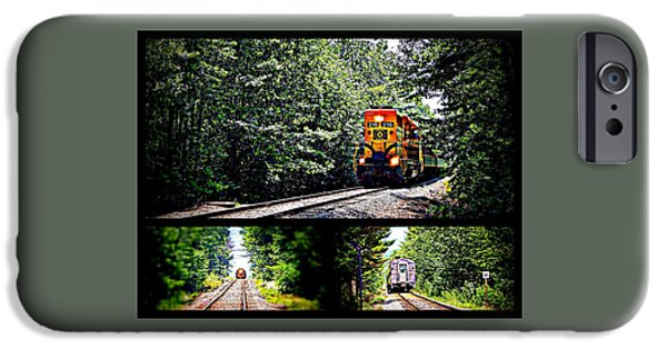 Old Cars iPhone Cases - Riding the rails iPhone Case by Karen Cook
