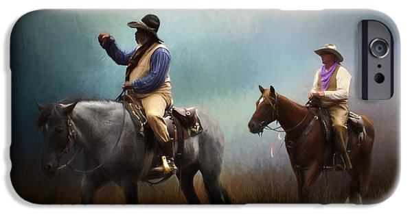 Chaps iPhone Cases - Riding The Range iPhone Case by David and Carol Kelly