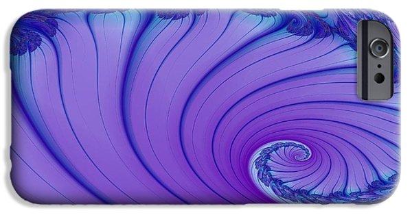 Floral Digital Art Digital Art iPhone Cases - Riding The Wave iPhone Case by Regina Rodella