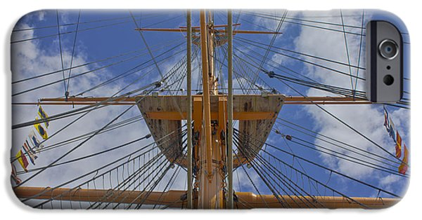 Marine iPhone Cases - Rigging iPhone Case by Terri  Waters