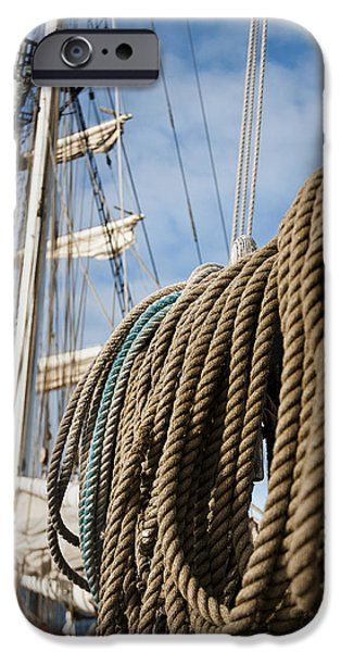 Tall Ship iPhone Cases - Rigging4 iPhone Case by MAK Imaging