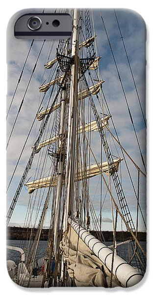 Tall Ship iPhone Cases - Rigging5 iPhone Case by Marina Krasnovid