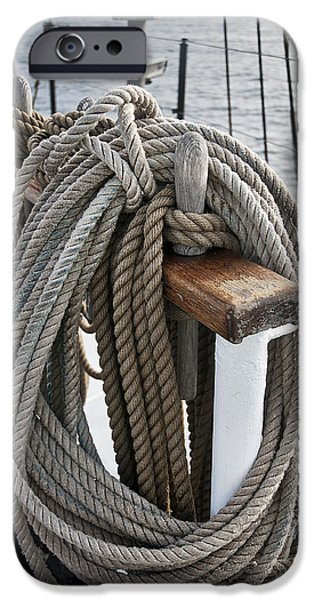 Tall Ship iPhone Cases - Rigging6 iPhone Case by MAK Imaging