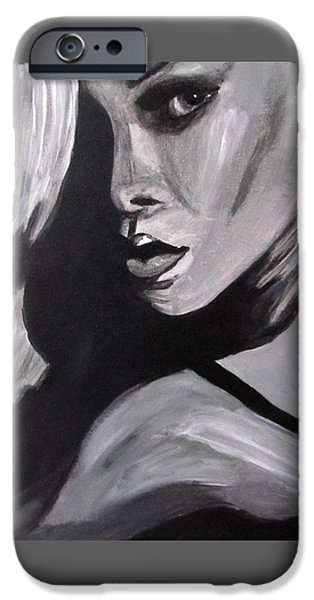 Rihanna Paintings iPhone Cases - Rihanna iPhone Case by Angel Love