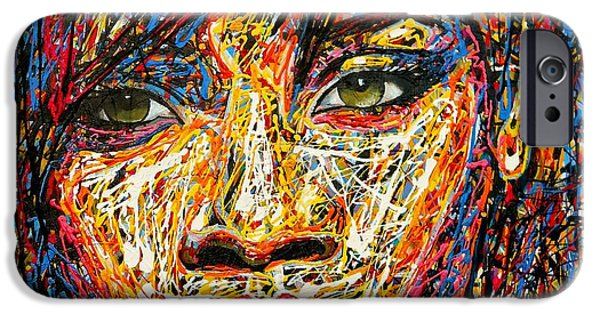 Rihanna Paintings iPhone Cases - Rihanna iPhone Case by Angie Wright