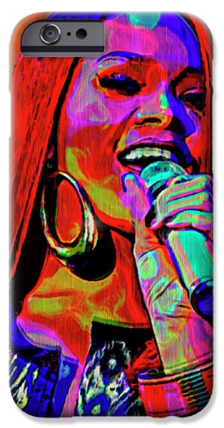 American ist Mixed Media iPhone Cases - Rihanna  iPhone Case by  Fli Art