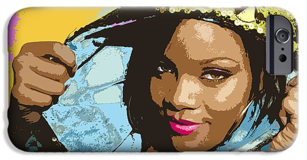 Rihanna iPhone Cases - Rihanna iPhone Case by John Keaton