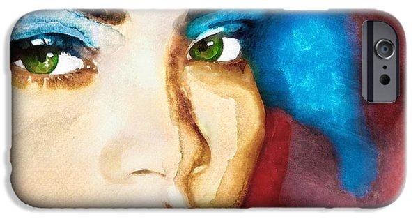 Rihanna Paintings iPhone Cases - Rihanna Like a Diamond iPhone Case by Vya Artist