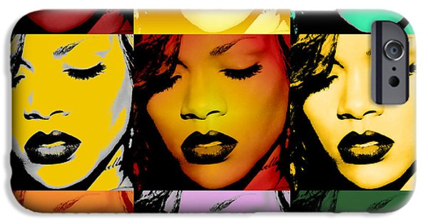 Warhol iPhone Cases - Rihanna Warhol by GBS iPhone Case by Anibal Diaz