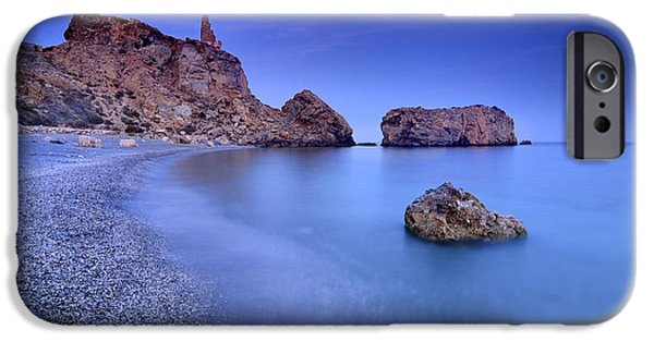 Sea iPhone Cases - Rijana beach at blue hour iPhone Case by Guido Montanes Castillo