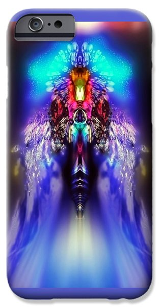 Angel Blues iPhone Cases - Rikbie iPhone Case by Raymel Garcia