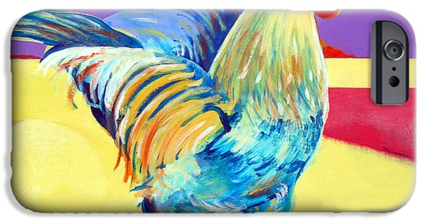 Best Sellers -  - Nebraska iPhone Cases - Riley the Rooster iPhone Case by Christine Belt