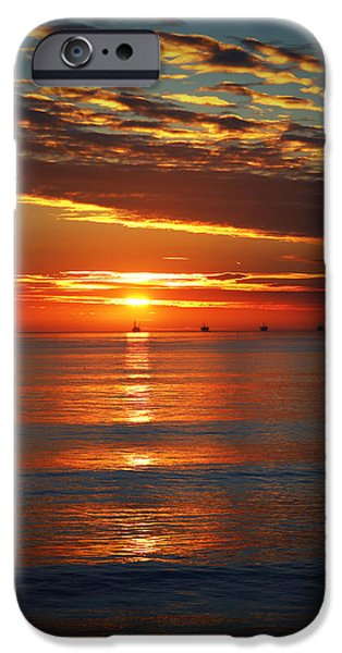 Rincon Beach iPhone Cases - Rincon Sunset iPhone Case by John A Royston