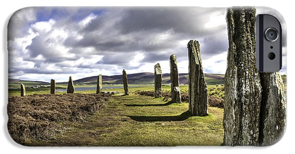 Recently Sold -  - Historic Site iPhone Cases - Ring of Brodgar iPhone Case by Fran Gallogly