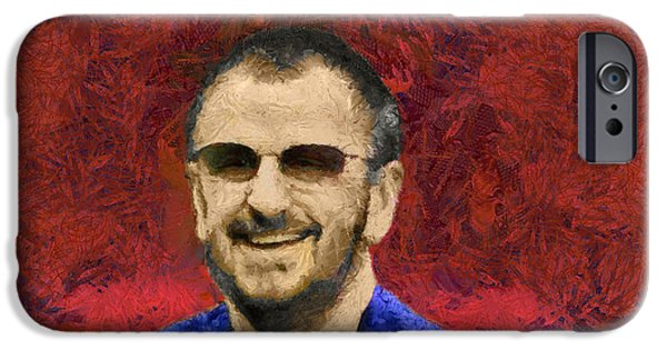 Beatles iPhone Cases - Ringo Starr iPhone Case by Sergey Lukashin
