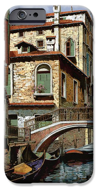 Reflection Paintings iPhone Cases - Rio Degli Squeri iPhone Case by Guido Borelli