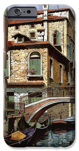 rio degli squeri iPhone Case by Guido Borelli