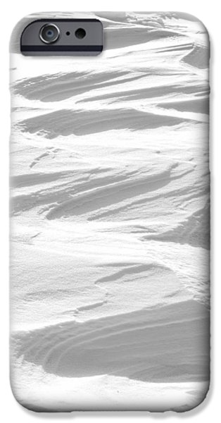 Snow Drifts Photographs iPhone Cases - Ripples iPhone Case by Michael Peychich