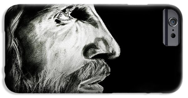Son Of God Drawings iPhone Cases - Rise iPhone Case by Ann Supan