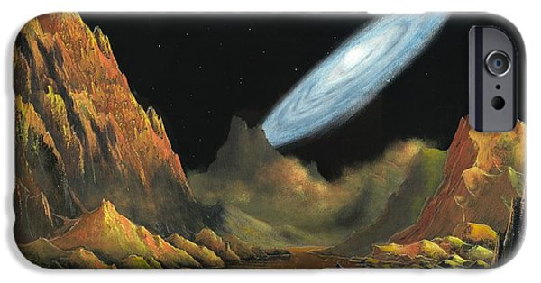 Exoplanet Paintings iPhone Cases - Rise of the Galaxy-1 iPhone Case by Suresh Chakravarthy
