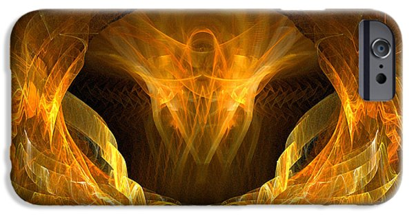 Christian Artwork Digital Art iPhone Cases - Risen iPhone Case by R Thomas Brass