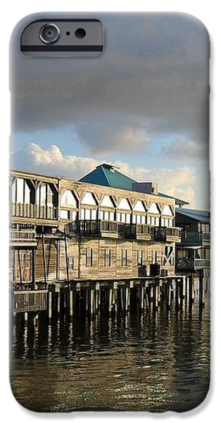 Rising Storm Dock Street iPhone Case by Sheri McLeroy