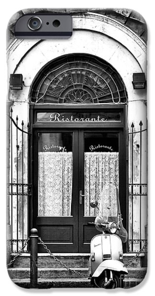 Monotone iPhone Cases - Ristorante Parking iPhone Case by John Rizzuto