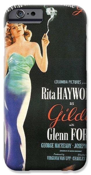Rita iPhone Cases - Rita Hayworth as Gilda iPhone Case by Nomad Art And  Design