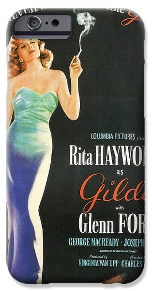 Rita Hayworth as Gilda iPhone Case by Nomad Art And  Design