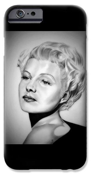 Rita iPhone Cases - Rita Hayworth iPhone Case by Fred Larucci