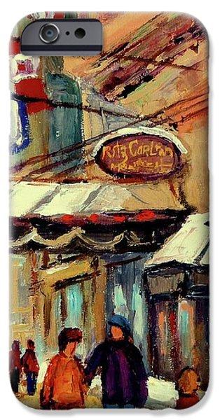 RITZ CARLTON MONTREAL CITYSCENES  iPhone Case by CAROLE SPANDAU