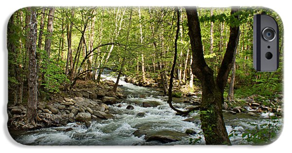 Tennessee River iPhone Cases - River at Greenbrier iPhone Case by Sandy Keeton