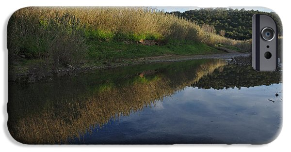 Creek iPhone Cases - River by sunset iPhone Case by Angelo DeVal