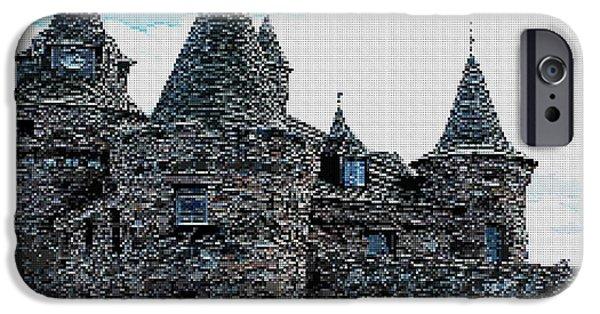 Tetris Block iPhone Cases - River Castle iPhone Case by Jacquin