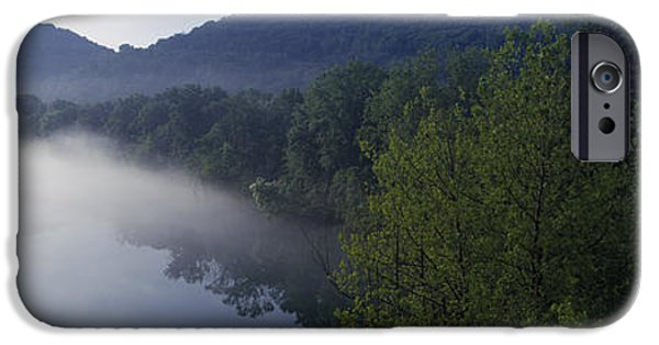 Arkansas iPhone Cases - River Flowing In A Forest iPhone Case by Panoramic Images