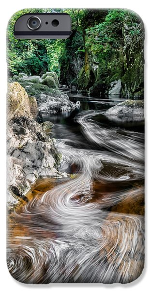 Swirls iPhone Cases - River Of Dreams iPhone Case by Adrian Evans