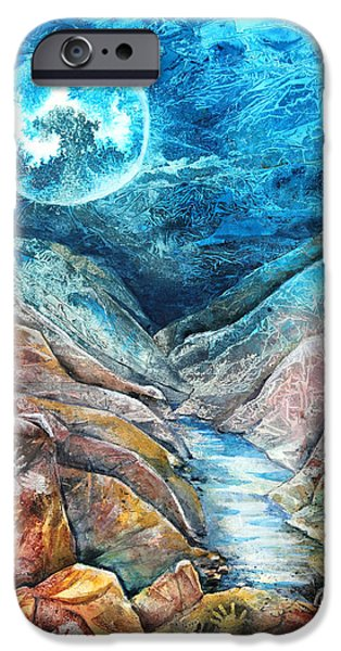 River Mixed Media iPhone Cases - River of Souls iPhone Case by Patricia Allingham Carlson
