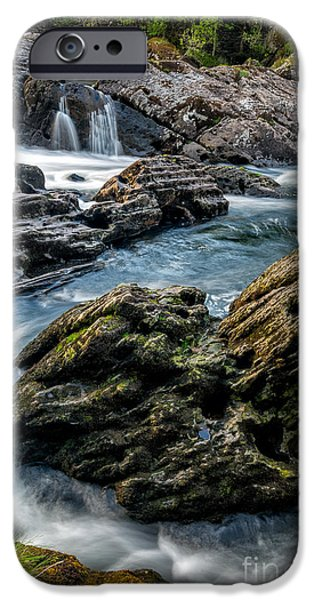Rapids iPhone Cases - River Passing iPhone Case by Adrian Evans