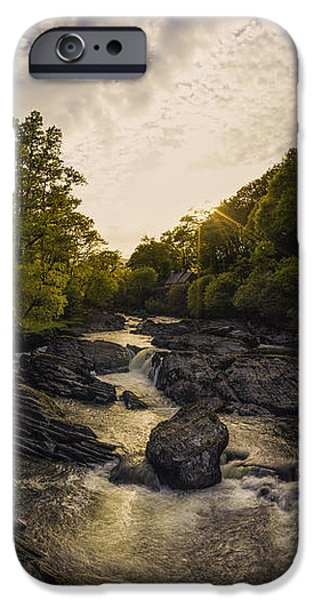River View iPhone Cases - River Sunset iPhone Case by Ian Mitchell
