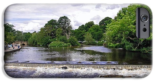 Best Sellers -  - Turbulent Skies iPhone Cases - River Wye and Weir - Bakewell iPhone Case by Rod Johnson