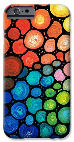 Contemporary Abstract iPhone Cases - Rivers Edge iPhone Case by Sharon Cummings